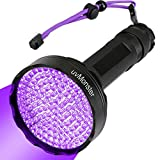 Torcia UV Blacklight, super luminosa, 128 LED, 395 nm, rilevatore di urina per cani e gatti, per macchie di urina di animali domestici, luce nera UV per cimici, scorpioni, casa e hotel