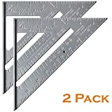 Mr. Pen- Rafter Square, Pack of 2, 7' Rafter Carpenter, Triangle Ruler, Metal Ruler, Carpenter Square, Woodworking Tools, Framing Square, Carpenter Tool, Square Tool, Carpentry, Combination Square