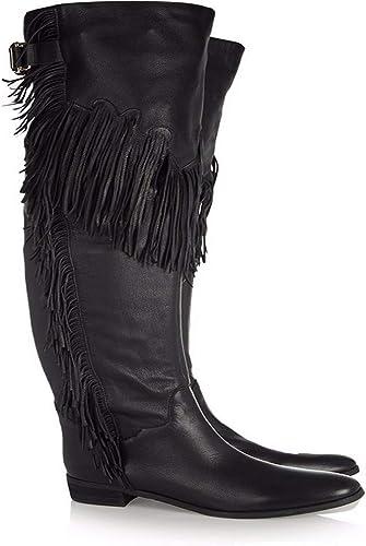 NIUYUAN Glands Des Des Des Genoux Chaussures Femmes Européennes Talons Hauts Sur Bottes Genou,noir,45 1ad