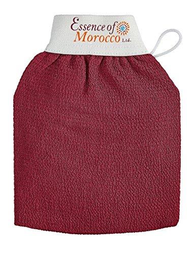 Gants Exfoliants de Gommage Kessa Marocain pour l'exfoliation de la peau. Marque: Essence of Morocco (1 Gant)