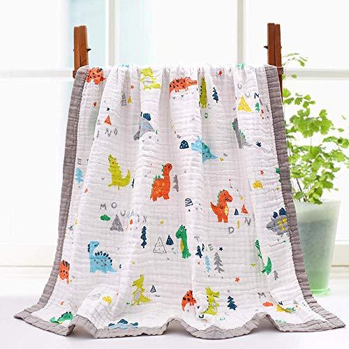 OJPOGHU Toallas de baño, Toalla de algodón Egipcio, Altamente Absorbente, 2 Piezas por Juego (Color : Baby Dinosaur*2, Size : 110 * 110cm)