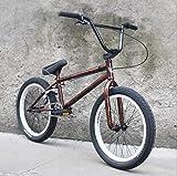Fitness Deportes al aire libre Bicicletas BMX de 20 pulgadas Bicis de acero cromo-molibdeno de alta resistencia Cuadro BMX Manivela de 3 secciones y 8 teclas con freno en U y cubierta superior de a