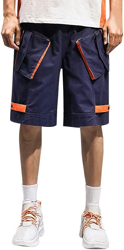 RoDeke 2019 New Summer Fashion Casual Men S Cargo Shorts Unique Design Pockets Short Pants Slim Fit