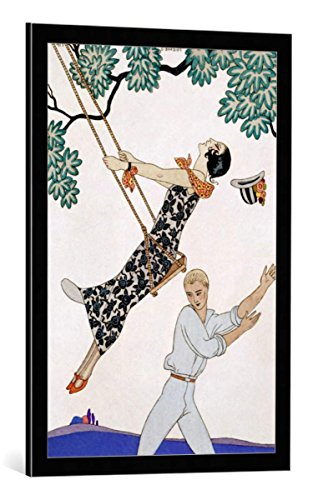 Kunst für Alle Cuadro con Marco: Georges Barbier The Swing 1920s -...