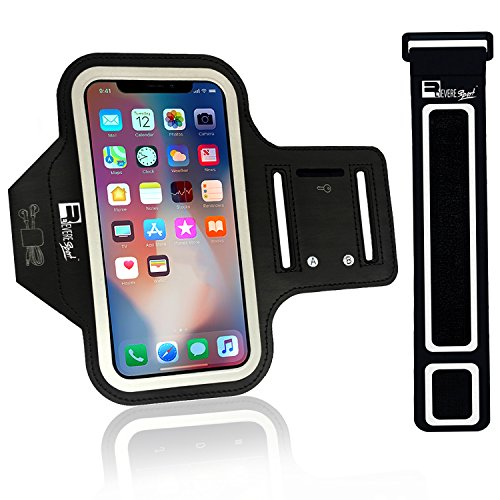Revere Sport iPhone X/XS Running Armband (Face Recognition). Sports Phone Case Holder for Runners