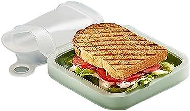 Boîte à bento Sandwich Toast Case Boîte à lunch en silicone Boîte à lunch scellée souple et étanche pour le bureau de l'éc...