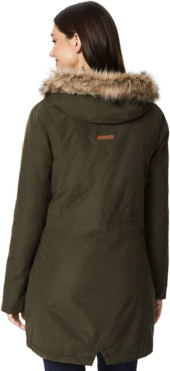 Regatta Womens Sherlyn Waterproof And Thermoguard Insulated Faux Fur Hooded Jacket
