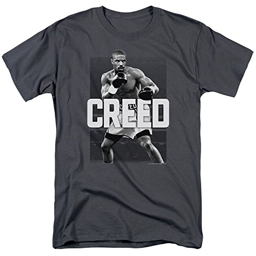 Trevco Men's Creed The Movie Short Sleeve T-Shirt, Charcoal, XX-Large