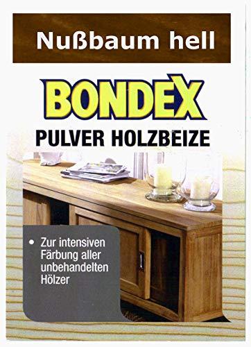 Bondex Holzbeize Pulverbeize Beutelbeize Beize auf Wasserbasis für Möbel 5er Pack - nußbaum hell