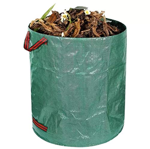 Parkside Reusable 72 Gallon self Standing Heavy Duty Lawn, Leaf, and Yard Waste Collapsible Bag Garden Tote Debris Container Pop up Grass Bin
