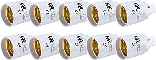 Lights of Germany G24-D G24D - Adaptador de 2 pines (rosca E27, para bombillas LED, convertidor de luz CE, calidad de marca de Alemania)