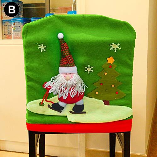 Lynn Cute Christmas Elements Chair Covers - Funda para silla (reutilizable), diseño navideño