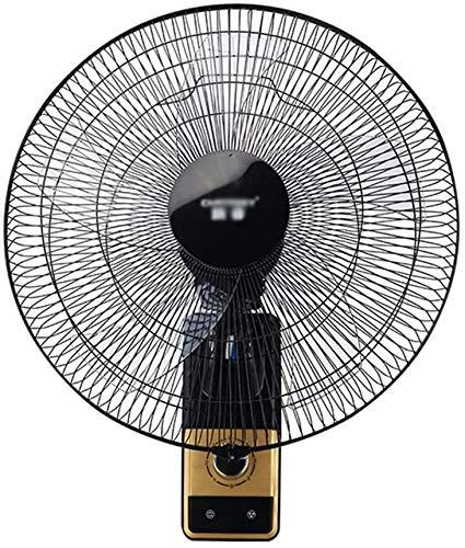 Byakns Muro de Negocios con Ventilador, 16/20 Pulgadas |Negro |mecánica |oscilante, Cabeza de la Sacudida |Ventilador eléctrico |Ventilador de Pared |Adecuado for oficinas, cafés Internet