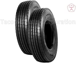 TRIANGLE TR683 - Steer, Trailer position tire - 12R22.5 18PLY (Set of 2)