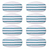 KEEPOW 8 Pack Microfibre Steam Mop Pads Compatible PurSteam ThermaPro 10-in-1