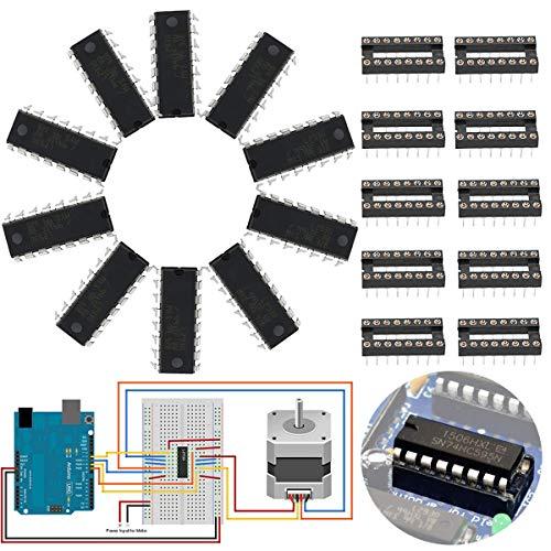 Youmile 10 STÜCKE L293D DIP16 Schrittmotortreiber Controller VIER KANAL MOTOR TREIBER IC 36 V 600 mA + Rundloch IC sockel 16PIN