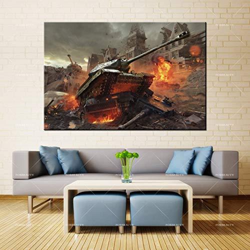 N / A Leinwandmalerei Wandkunst Panzer Welt neues Feld Sprühen wasserdichte Tinte Hauptdekoration