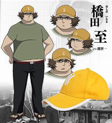 Xcoser Steins Gate Hat Super Hacker Hashida Itaru Yellow Baseball Cap Cosplay Accessory Cotton
