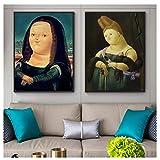 hutianyu Fernando Botero Mona Lisa Leinwandbilder die