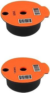 Baoblaze 2 pièces tasse à café en plastique PP réutilisable pour Bosch Tassimo, avec maille en acier inoxydable