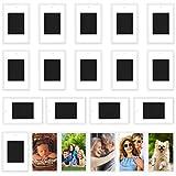 Kurtzy Marco de Fotos en Blanco para Refrigerador (Pack de 20) Marcos Imanes Personalizados Nevera - Fotos 7 x 4,5 cm Portafotos Metacrilato Transparente Fotos Pequeñas, Regalos Familiares y Amigos
