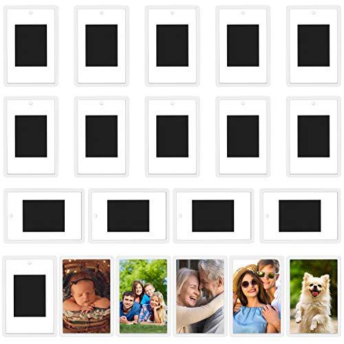Kurtzy Bilderrahmen Magnete für den Kühlschrank (20er Pack) Für Fotos 7 x 4,5 cm - Durchsichtige Acryl Kühlschrank Fotomagnete Selbst Gestalten für Kleine Fotos - Geschenke für Familie & Freunde