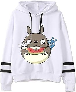 Totoro Hoodie Women's Pullover Men's Sweatshirt Japanese Anime Sweatshirt Harajuku Hoodie Unisex (Color : D, Size : Small)