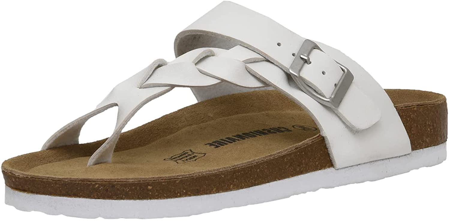 Women's Cushionaire Libby Cork footbed Sandal with +Comfort and Wide Widths Available,
