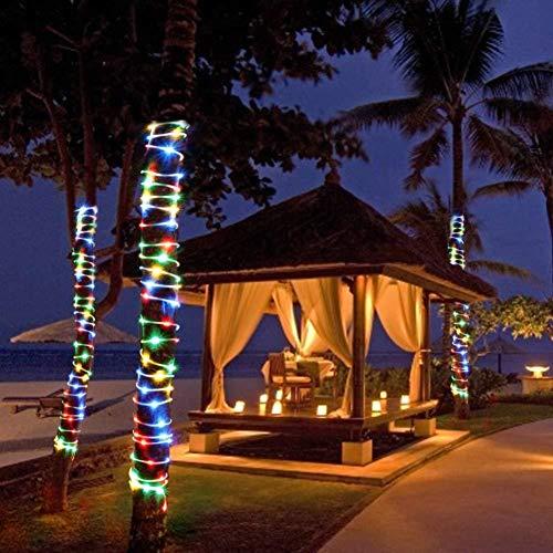 ENticerowts - Lámpara Solar LED de 10 a 20 m, Resistente al Agua, ecológica, Funciona con energía Solar, decoración de jardín de Navidad, 20 m