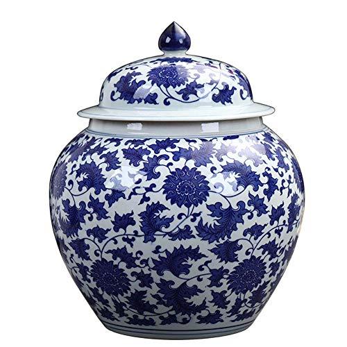 Eierschale Blau und Weiß Vase Keramik Porzellan Kaolin Blumenvase Wohnkultur Handgefertigte Vasen B Klein