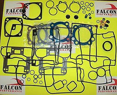Upper or Top End Gasket Set compatible with 1984-99 Harley Evo 1340 BIG BORE w/Teflon+Carbon Head Gaskets