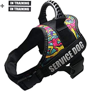 GOLDBELL Dog Vest Harness for Service Dogs, Soft Mesh Lining Padded Dog Training Vest with Reflective Patches for Small Medium to Large Dogs