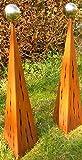 Gartendeko Rost Pärchen Raindrops Rostsäulen 100 cm + 100 cm