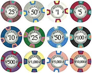 Claysmith Gaming 10-Gram Premium Milano Clay Poker Chips - 12 Chip Sample Set