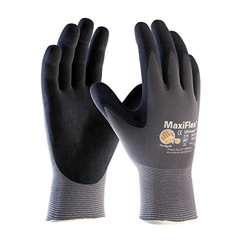 PIP Protective Industrial Products 34-874-M PIP 34-874-M Nylon Gloves, Nitrile Grip, M, Gray