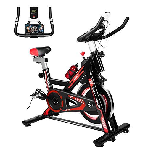 Naspaluro Exercise Bikes, Stationary Indoor Fitness Bike...