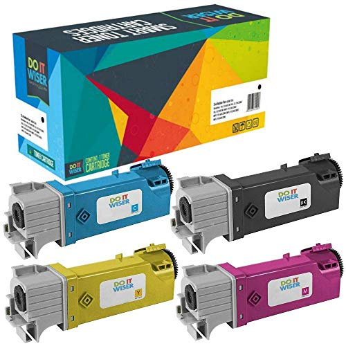Do it wiser Compatible Toner Cartridge Replacement for Dell 2150 2150cn 2150cdn 2155 2155cn 2155cdn (4-Pack)
