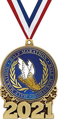 New mail order Crown Awards Half Marathon Prime Max 41% OFF Medal Gold