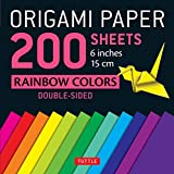 Origami Paper 200 sheets Rainbow Colors 6' (15 cm): Tuttle Origami Paper: High-Quality Double Sided Origami Sheets Printed with 12 Different Designs (Instructions for 6 Projects Included)