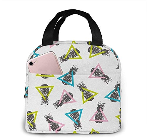 Bolsa de almuerzo con aislamiento Bolsa fresca para cajas de almuerzo Bolso de picnic plegable de tela impermeable para mujeres Hombres adultos Niños Buceo 11-7