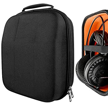 Geekria UltraShell Case Compatible with Audio-Technica ATH-AD900X ATH-AG1X ATH-AD500X ATH-R70X Headphones Replacement Protective Hard Shell Travel Carrying Bag with Cable Storage Black