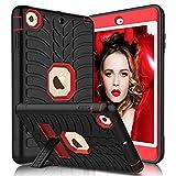 Elegant Choise iPad Mini Case, iPad Mini 2 Case, iPad Mini 3 case, iPad Mini 1 Case, Mini iPad Case&Heavy Duty 3 Layer Armor Defender iPad Mini Protective Case for iPad Mini 2 with Stand (Red)