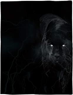 JEANCZ Flannel Fleece Bed Blanket The Black Panther in The Dark Throw Blanket Lightweight Cozy Plush Blanket for Bedroom Living Rooms Sofa Couch - 59x79inch