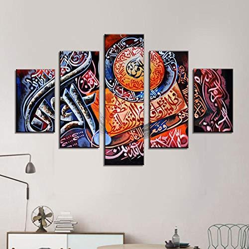 Rjbzd Leinwand Wandkunst Om Zeichen Bilder 5 Stück Meditieren Frieden Heilung Gemälde Für Wohnzimmer Premium Qualität Kunstwerk Hd Drucke