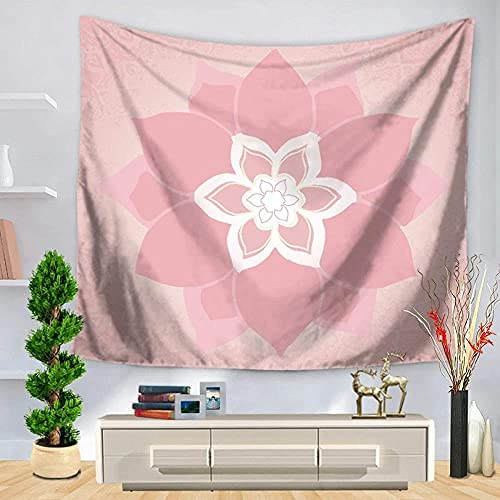 Yhjdcc Tapiz de pared con diseño de mandala en 3D, para colgar en la pared, toalla redonda de mandala de fibra de poliéster y mandala, borla de Navidad, regalos de Año Nuevo, 150 cm x 200 cm