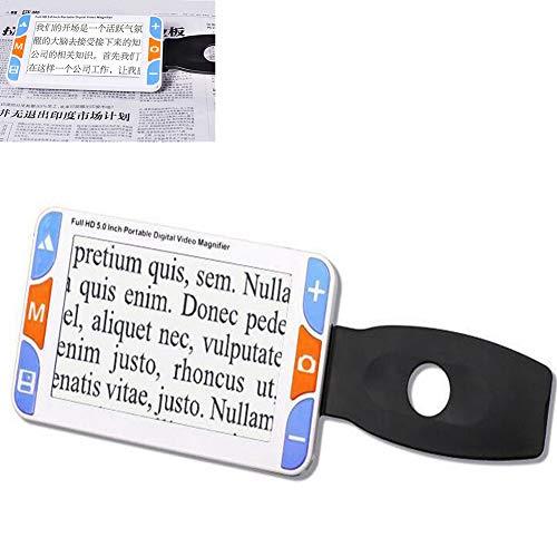 JL Digitale Videolupe 3X-48X Zoom Unterstützt AV-Ausgang Zum Fernseher 5.0 Zoll Elektronische Sehhilfe Mit Mehreren Farbmodi Praktisch für Sehbehinderte