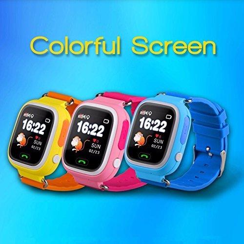 Relógio Smartwatch Q90 kids Gps Localizador de Crianças Idosos Rastreador Chamadas SOS Andorid IOS (AZUL)