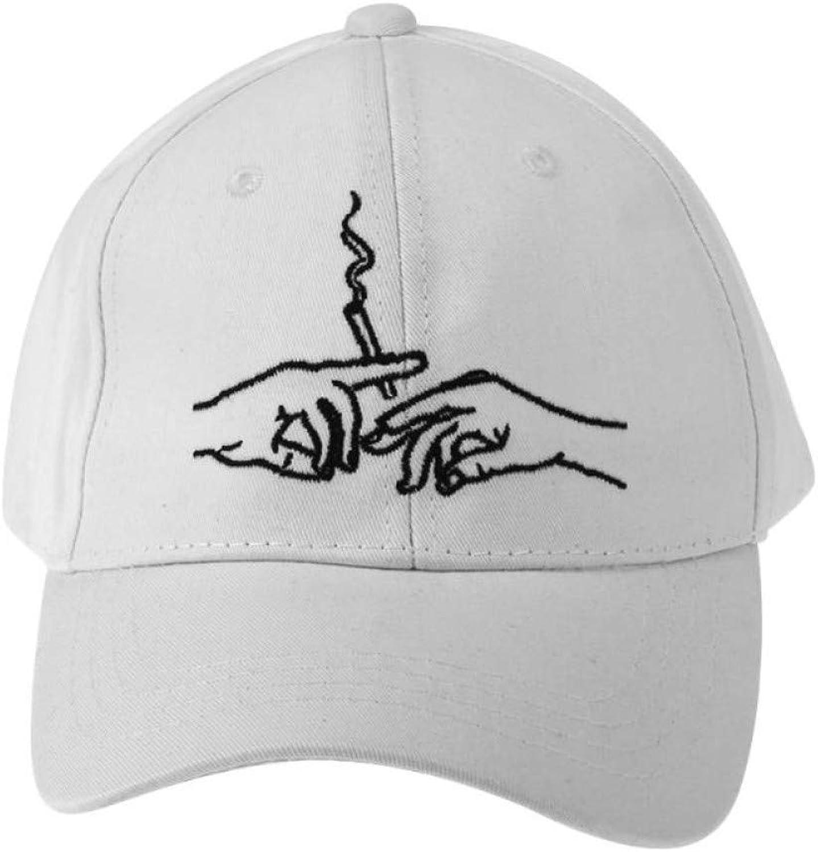 9986ec77 JINRMP Fashion Cotton Hands Smoke Baseball Cap Embroidery Snapback Men  Hiphop Hat Trucker Baseball Hats Cap Women oqvoar2860-Sporting goods