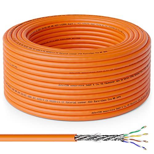 deleyCON 30m CAT.7 Cable de Instalación...