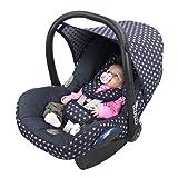BAMBINIWELT Ersatzbezug für Maxi-Cosi CabrioFix 6-tlg, Bezug für Babyschale, Komplett-Set STERNE MARINE XX